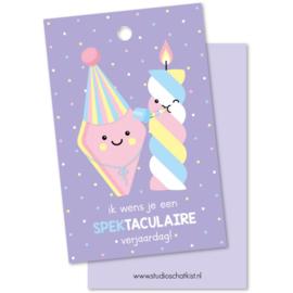 Label ik wens je een SPEKtaculaire verjaardag!