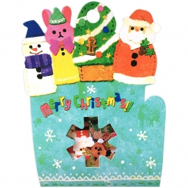 X-Mas Finger Puppets sticker sack