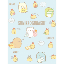 Document folder Sumikkogurashi Ebifurai no Shippo no Otsukai blue