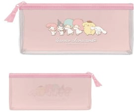 Sanrio Characters clear flat pen pouch