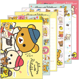 Memoblok groot Always with Rilakkuma geel