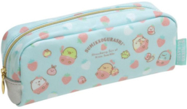 Pen pouch Sumikko Cafe Strawberry Fair blue