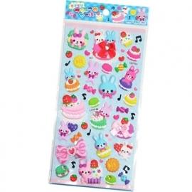 Puffy sticker sheet Sweet Dance