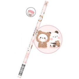 2B potlood Mochi Mochi Panda Kumamochi   roze