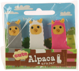 Alpaca erasers | set of 3