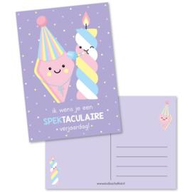Ansichtkaart ik wens je een SPEKtaculaire verjaardag!