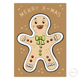 Christmas card Gingerbread Man