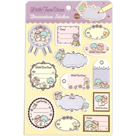 Label stickers Little Twin Stars