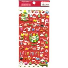 Kerst stickervel Happy Christmas