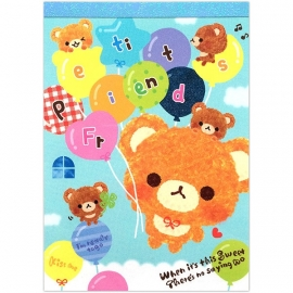 Memo pad large Petit Friends