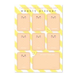 Weekly planner A4 cookie