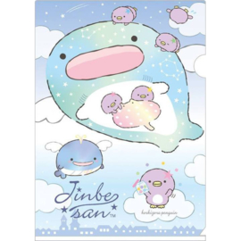A4 insteekmap Jinbesan Starry Sky Penguins