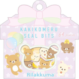 Kakikomeru Seal Bits Rilakkuma Party