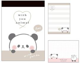 Memoblok klein With you animal | Panda