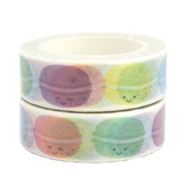 Washi tape colorful macarons