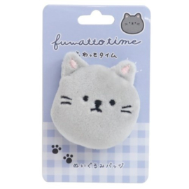 Mouse plushie with safety pin