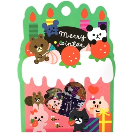 Merry Winter sticker sack