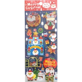 Christmas sticker sheet Merry Xmas