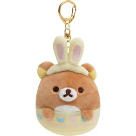 Rilakkuma Bunny Egg plush keychain