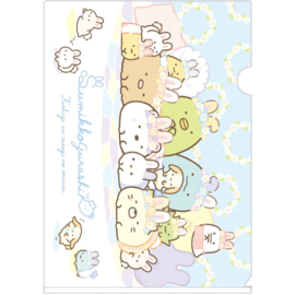 A4 file folder Sumikkogurashi Mysterious Rabbit