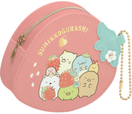 Sumikko Cafe Strawberry Fair coin purse + hanger