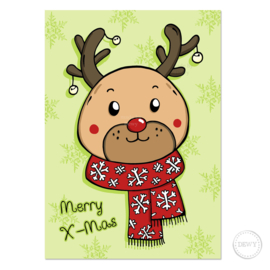 Christmas card Reindeer