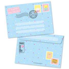 Envelop Happy Mail For You - blauw