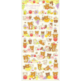 Rilakkuma Fruits stickers geel