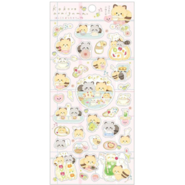 Stickers Kokoro Araiguma Enjoy Tea at Home | pink