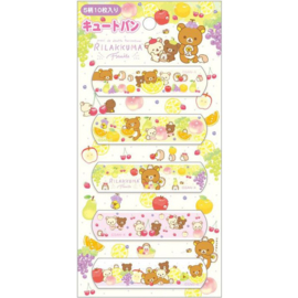 Pleisters San-X Rilakkuma Fruits