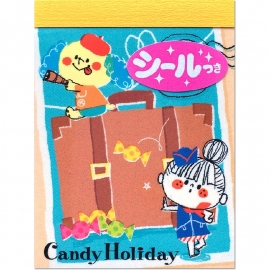 Memo pad small Kamio Candy Holiday