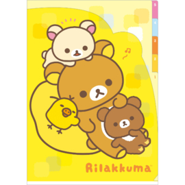 A4 index file Rilakkuma & Friends