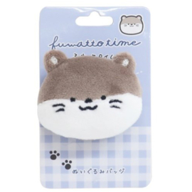 Otter plushie with safety pin