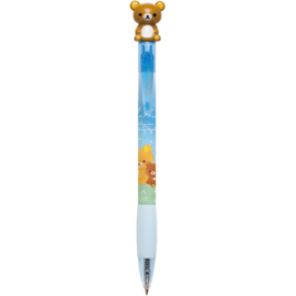 Chairoikoguma and a Starry Night pen - Rilakkuma