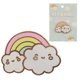 Pin Kawaii Rainbow Clouds