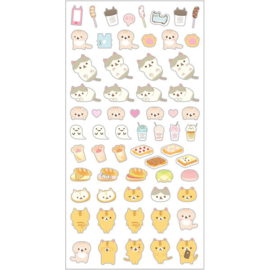 Corocoro Coronya photo props set of stickers and pencils