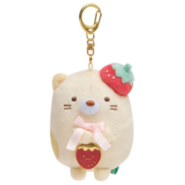 Sumikko Cafe Strawberry Fair keychain | Neko