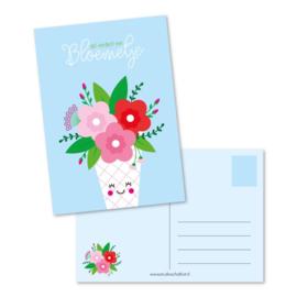Ansichtkaart dat verdient een bloemetje