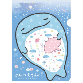 A4 file folder Jinbesan blue