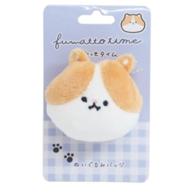 Hamster plushie with safety pin
