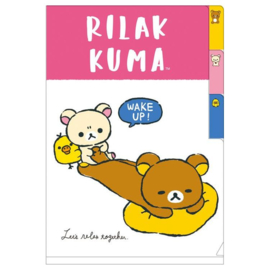 A6 insteekmap Rilakkuma | Let's relax together