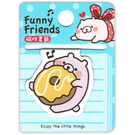 Magnetic bookmark Funny Friends Donut