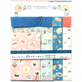 Sumikkogurashi Sushi Party briefpapier set