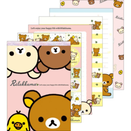 Memo pad large San-X Happy Life with Rilakkuma pink