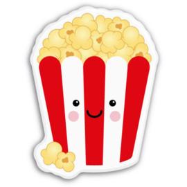 Magneet kawaii popcorn