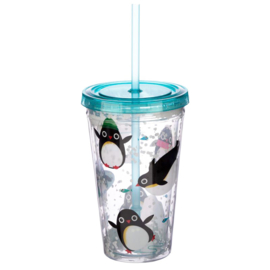 Pinguïn cup with lid and straw