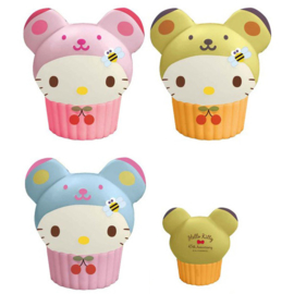Hello Kitty Teddy Cupcake Super Slow Rising squishy - kies je favoriet