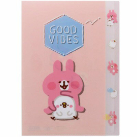 A4 file folder Piske & Usagi pink