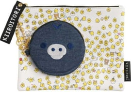 Puchipuchi Rilakkuma Kiiroitori pouch + coin purse