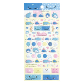 PVC stickers Jinbesan Face geel